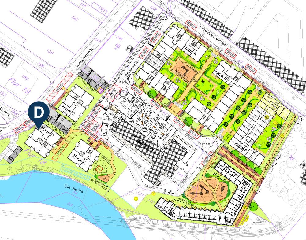 Lageplan Haus D