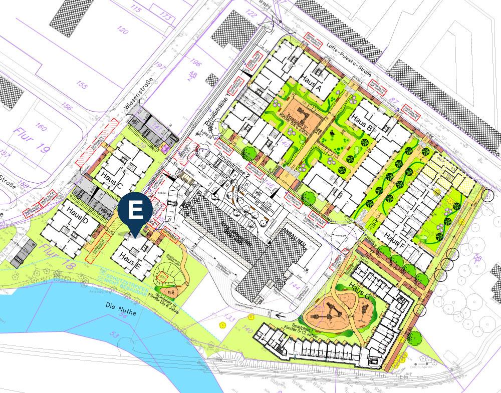 Lageplan Haus E